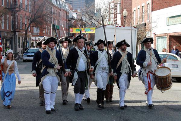 Paul Revere commemoration, North End, Boston.