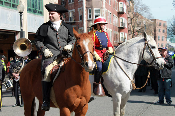 Paul Revere reenactment, Old North Church, Boston.