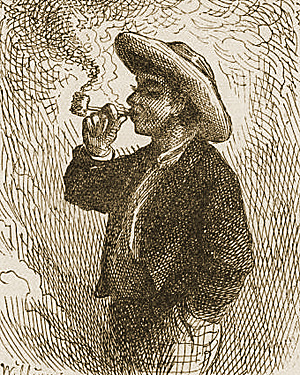 Illustration from The Adventures of Tom Sawyer by True Williams, 1876