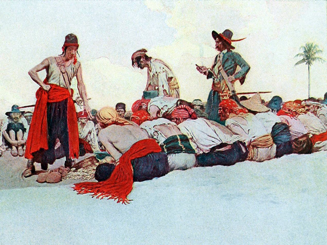 So the Treasure Was Divided by Howard Pyle, 1905
