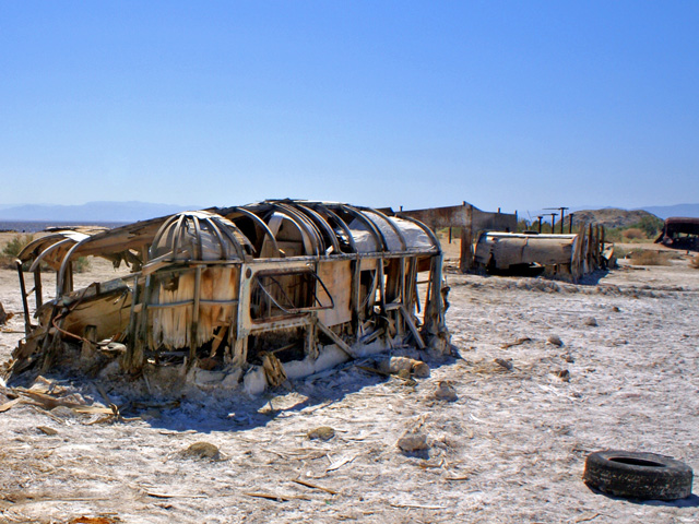 Bombay Beach on the shore of the Salton Sea, CA, April 2008.