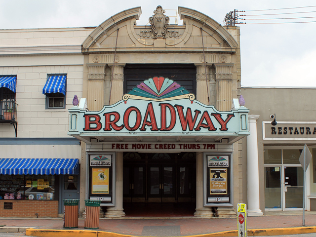 Broadway Theatre, est. 1926, Pitman, NJ.