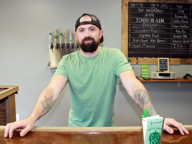 Justin Fleming, co-owner of Kelly Green Brewing Co.
