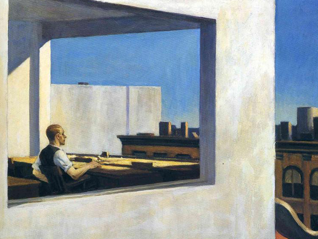 Office in Small City by Edward Hopper, 1953