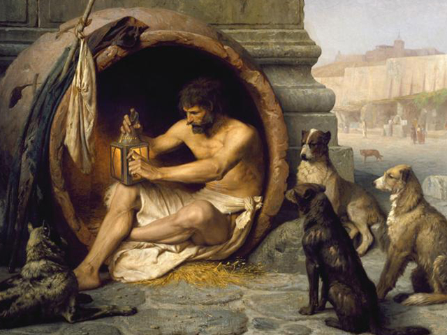 Diogenes by Jean-Leon Gerome, 1860