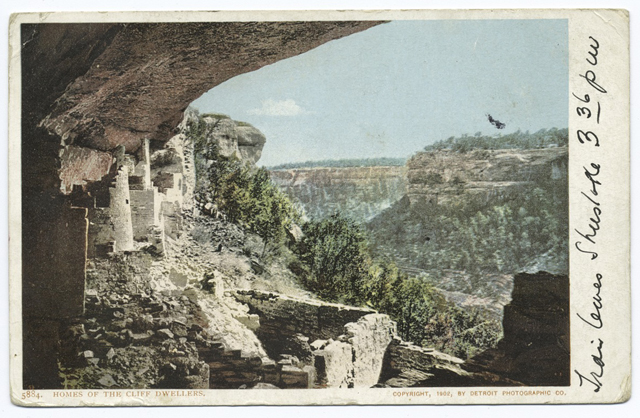 Home of the Cliff Dwellers postcard