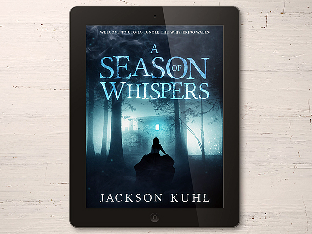 A Season of Whispers on an ereader.